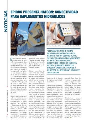Page 22 of Epiroc presenta Hatcon: conectividad para