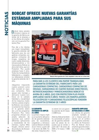 Page 30 of Bobcat ofrece nuevas garantías estándar ampliadas