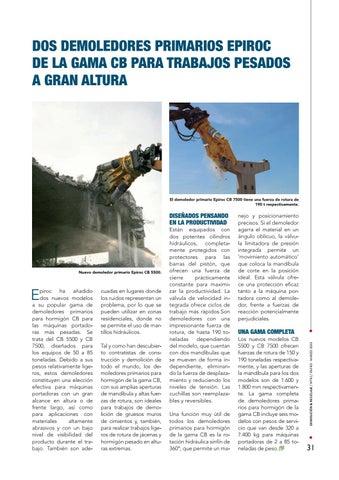 Page 31 of Dos demoledores primarios Epiroc de la gama CB