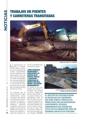 Page 34 of Trabajos en puentes y carreteras transitadas