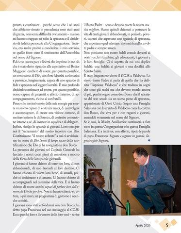 Page 5 of IL MESSAGGIO DEL RETTOR MAGGIORE