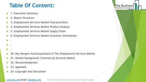 Page 3 of Employment Services Market Product Analysis