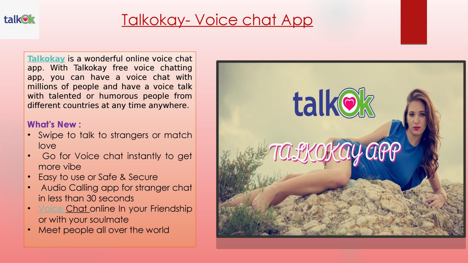 Strangers chat online voice Talk with