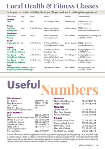 Page 39 of Useful Numbers