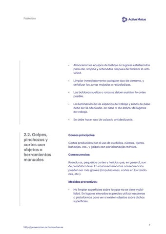 Page 7 of Golpes y cortes con objetos o herramientas manuales