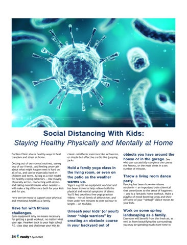 Page 34 of Social Distancing With Kids: Staying Healthy Physically and Mentally at Home