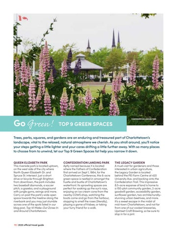 Page 70 of Go Green! Top 9 Green Spaces
