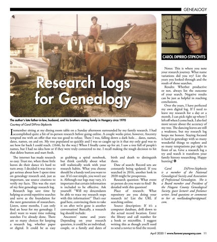 Page 13 of Log Your Research