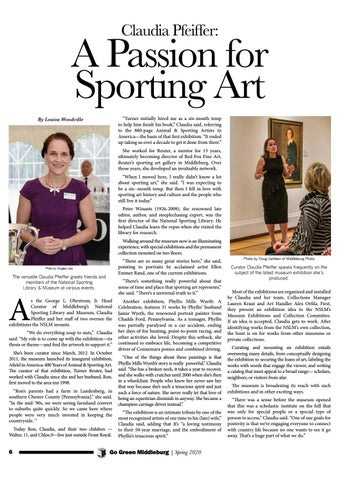 Page 6 of Claudia Pfeiffer: A Passion for Sporting Art