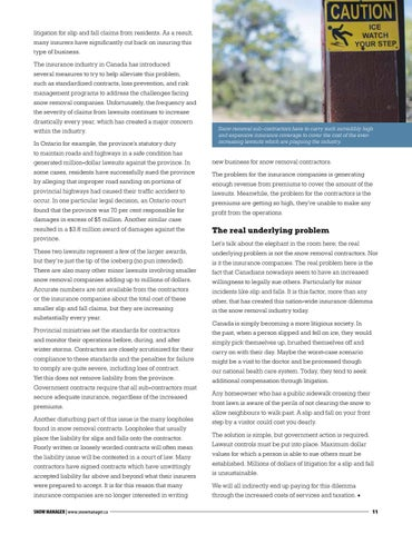 Page 11 of The snow removal industry insurance dilemma