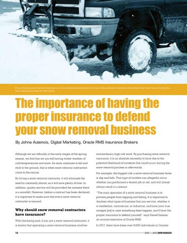 Page 12 of The importance of having the proper insurance to defend your snow removal business