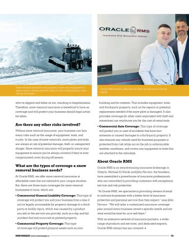 Page 13 of The importance of having the proper insurance to defend your snow removal business
