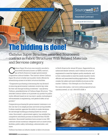 Page 17 of The bidding is done: Calhoun Super Structure awarded Sourcewell contract