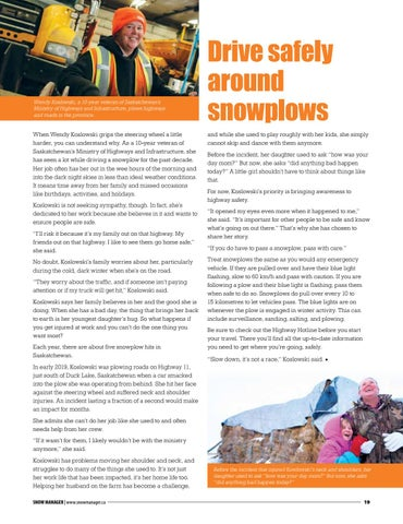 Page 19 of Drive safely around snowplows
