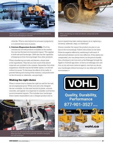 Page 21 of Hardscape-friendly de-icers for asphalt, brick, and concrete