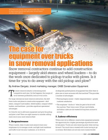 Page 22 of The case for equipment over trucks in snow removal applications