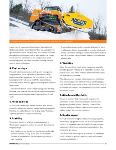 Page 23 of The case for equipment over trucks in snow removal applications