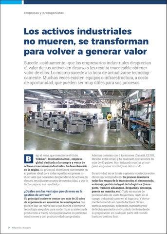 Page 16 of Los activos industriales no mueren, se transforman para volver