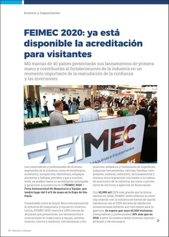 Page 18 of FEIMEC 2020: ya está disponible la acreditación para visitantes