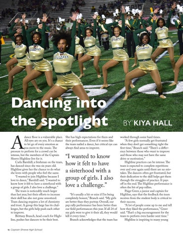 Page 16 of Dancing into the spotlight