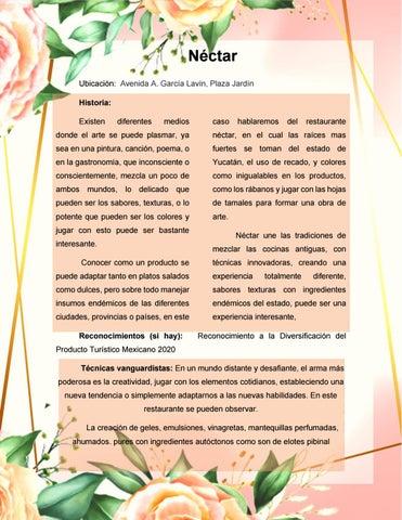 Page 11 of Restaurante néctar