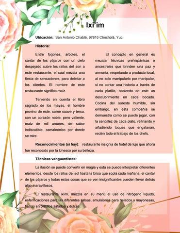 Page 16 of Restaurante ix´im