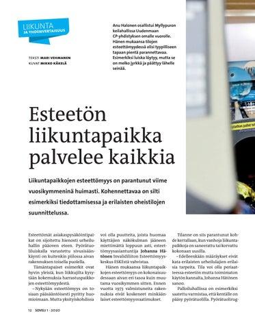 Page 12 of Esteetön liikuntapaikka palvelee kaikkia