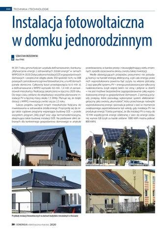 Page 20 of Instalacja fotowoltaiczna w domku jednorodzinnym