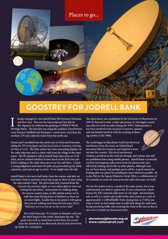 Page 31 of Places to go: Goostrey for Jodrell Bank