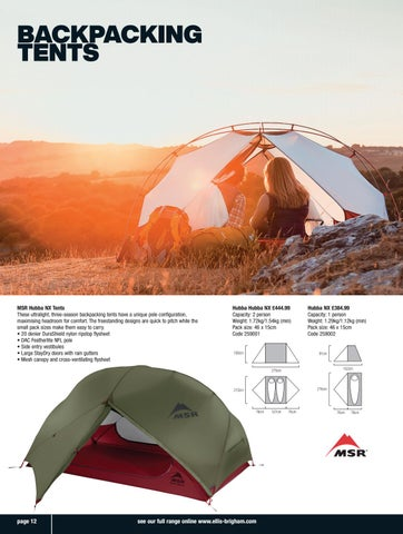 Page 12 of Backpacking Tents
