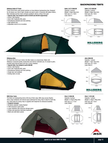 Page 13 of Backpacking Tents