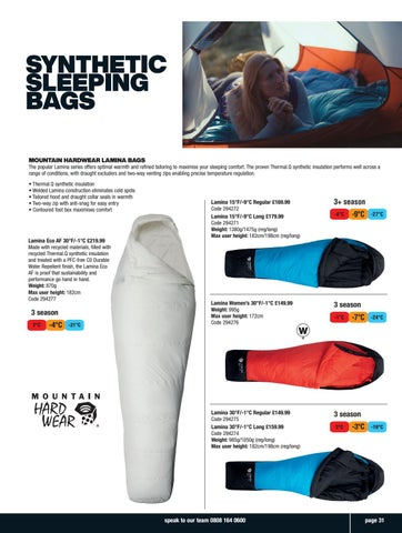 Page 31 of Synthetic Sleeping Bags