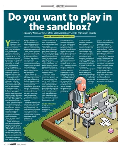 Page 20 of Evolving tools for innovators in financial services to transform society Do you want to play in the sandbox?