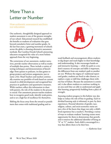 Page 12 of More Than a Letter or Number