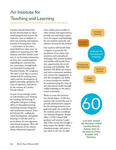 Page 14 of An Institute for Teaching and Learning