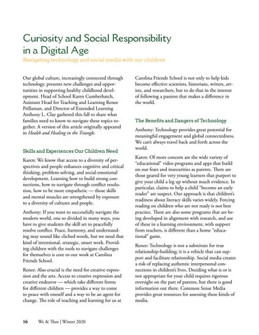 Page 16 of Curiosity and Social Responsibility in a Digital Age