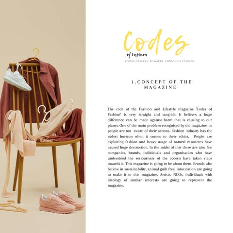 Page 6 of FASHION MAGAZINE CONCEPT: CODES OF FASHION