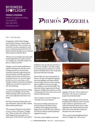 Page 12 of Business Spotlight: Primo's Pizzeria