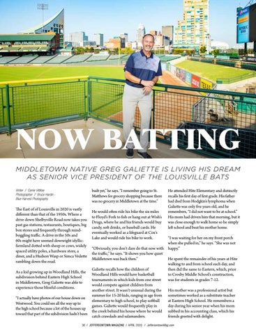 Page 30 of Now Batting: Middletown Native Greg Galiette Is Living His Dream As Senior Vice President of the Louisville Bats