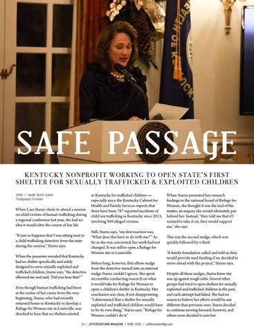 Page 34 of Safe Passage: Kentucky Nonprofit Working to Open State's First Shelter for Sexually Trafficked & Exploited Children