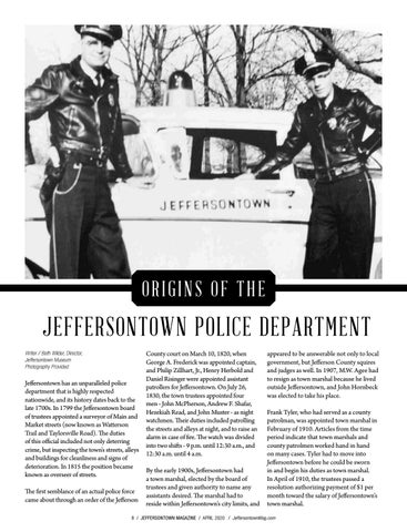 Page 8 of Origins of the Jeffersontown Police Department