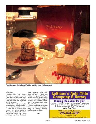 Page 9 of Sullivan's Steakhouse