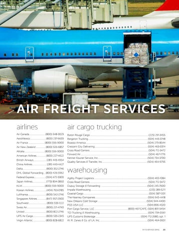 Page 25 of Air Freight Services