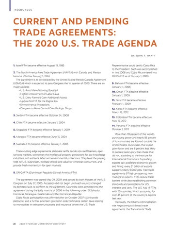 Page 30 of Current and Pending Trade Agreements: The 2020 U.S. Trade Agenda