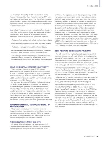 Page 31 of Current and Pending Trade Agreements: The 2020 U.S. Trade Agenda