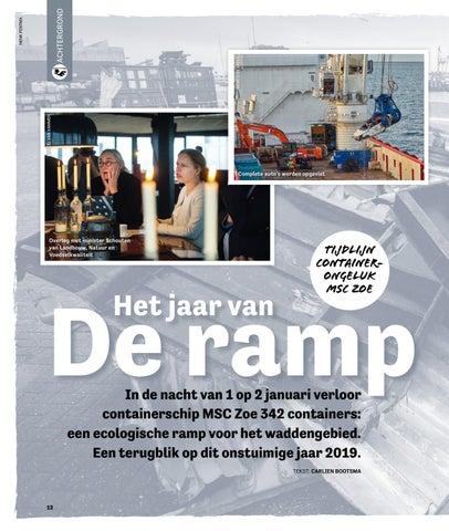 Page 12 of In de nacht van 1 op 2 januari verloor containerschip MSC Zoe 342 containers: een ecologische ramp voor het waddengebied. Een terugblik op dit onstuimige jaar 2019.