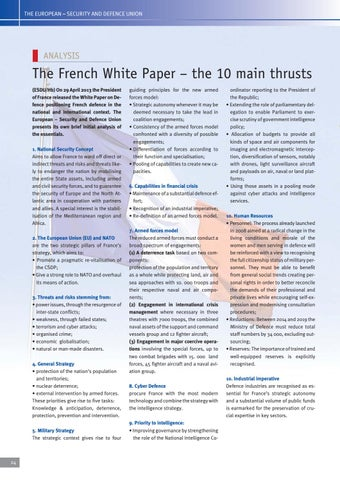 Page 24 of The French White paper – the ten main thrusts