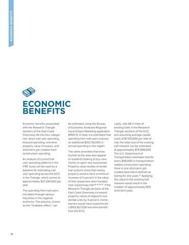 Page 18 of ECONOMIC BENEFITS