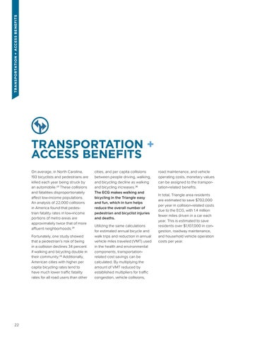 Page 22 of TRANSPORTATION + ACCESS BENEFITS