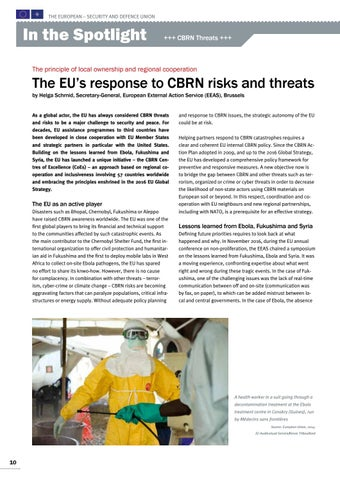 Page 10 of Helga Schmid, Brussels The EU's response to CBRN risks and threats Ready to react